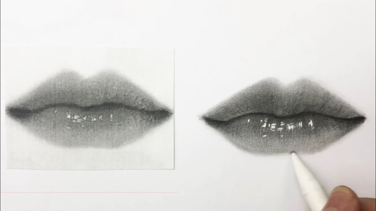 Cách vẽ môi đơn giản | Dựng từ hình mẫu | How to draw lips ✨💕 | Tổng quát những nội dung về vẽ chân dung con trai bằng chì đúng nhất