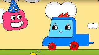 Мультфильм про машинки -  Грузовичок Пик - Раскраска - Невежливый черепашонок