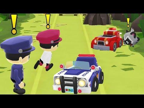 Tag with Ryan - Fire Chief Ryan and Sgt  Ryan chasing Dash Tag Rascal Thief