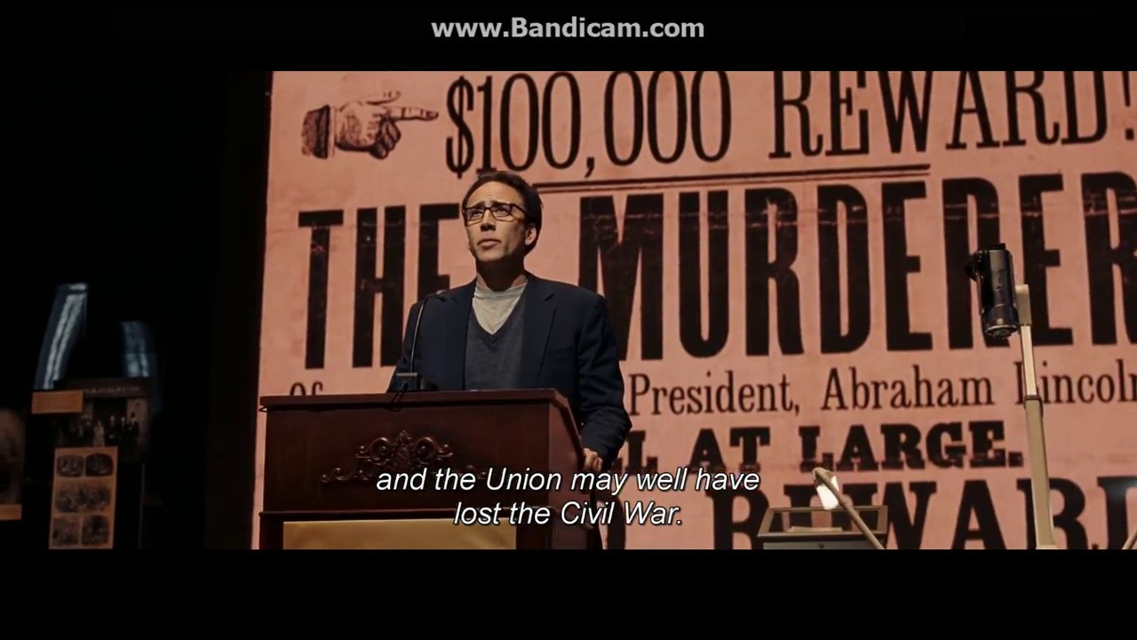 Download National Treasure: Book of Secrets (2007) Lecture scene | John Wilkes Booth`s diary