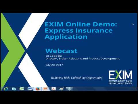 Applying for Express Insurance Using EXIM Online (EOL) - July 20, 2017