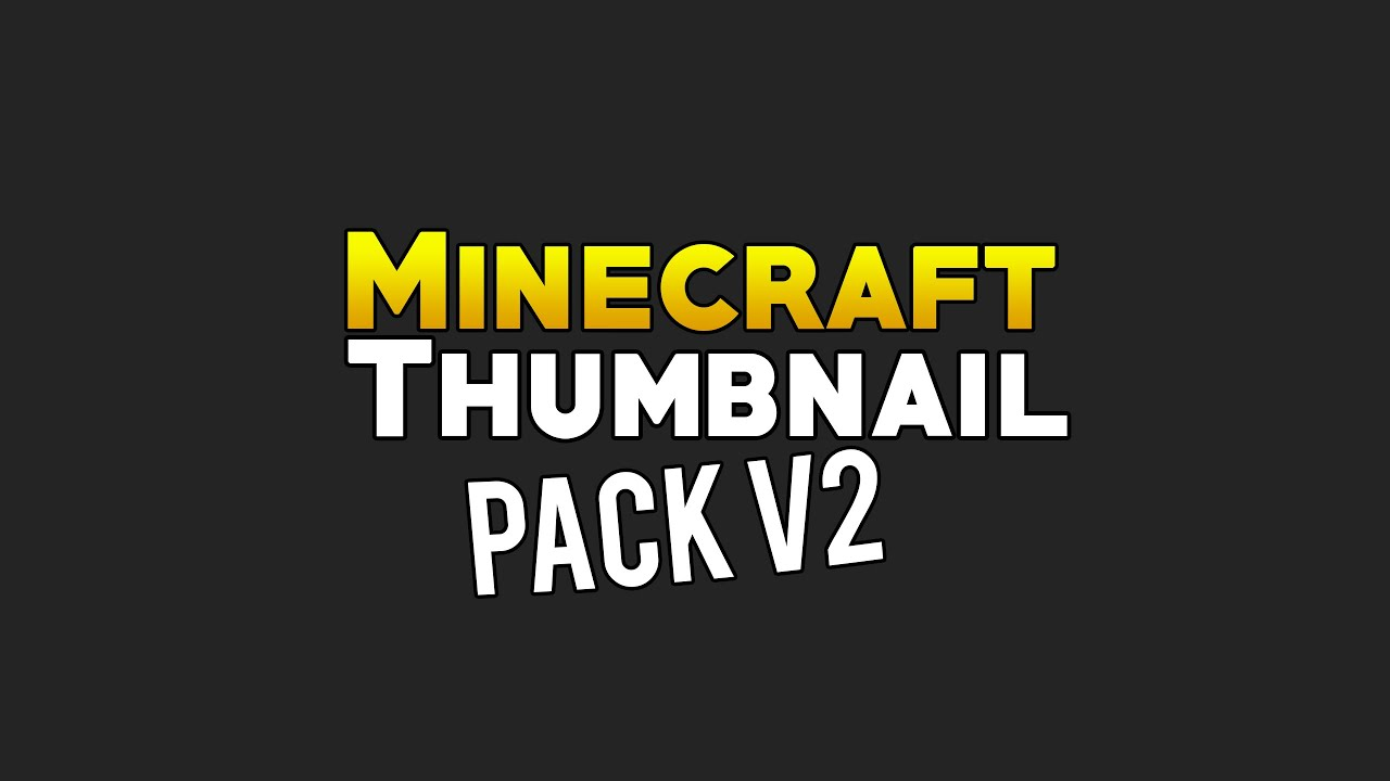 Minecraft Thumbnail Template Pack Release V2 Pixel Intro 3 YouTube