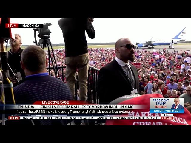 🔴 Trump Asks Media to Show MASSIVE Crowds in Macon, GA...
