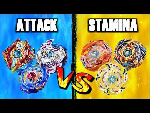 Beyblade Burst God Attack Types VS Stamina Types!   Beyblade Battle of The Types!