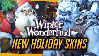 Overwatch | ALL CHRISTMAS COSMETICS - New Skins, Emotes, Intros [Winter Wonderland]