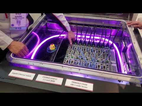 Fujitsu immersion-cooled rack 1U servers