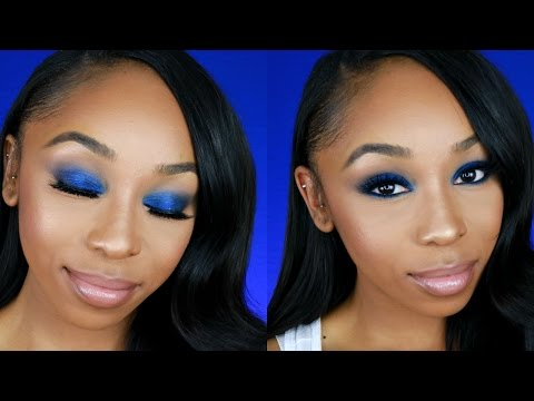 Easy and Affordable Blue Smokey Eye Makeup for Beginners