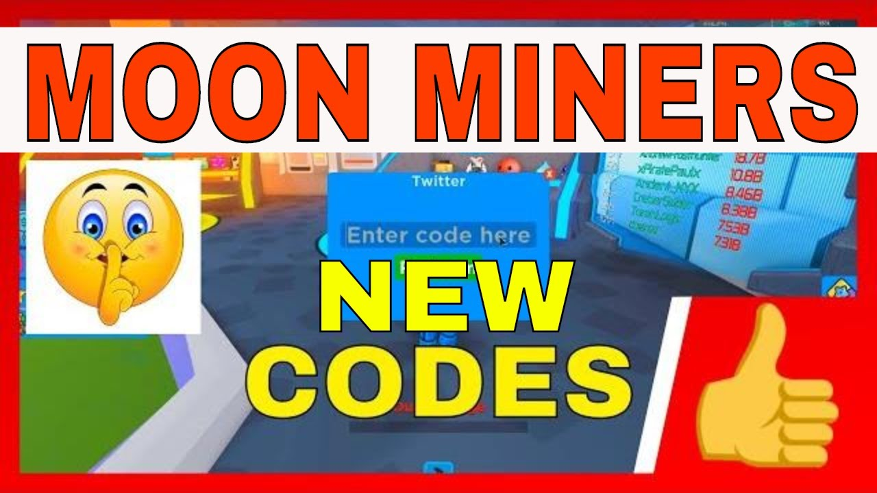 Moon Miners Codes - Roblox