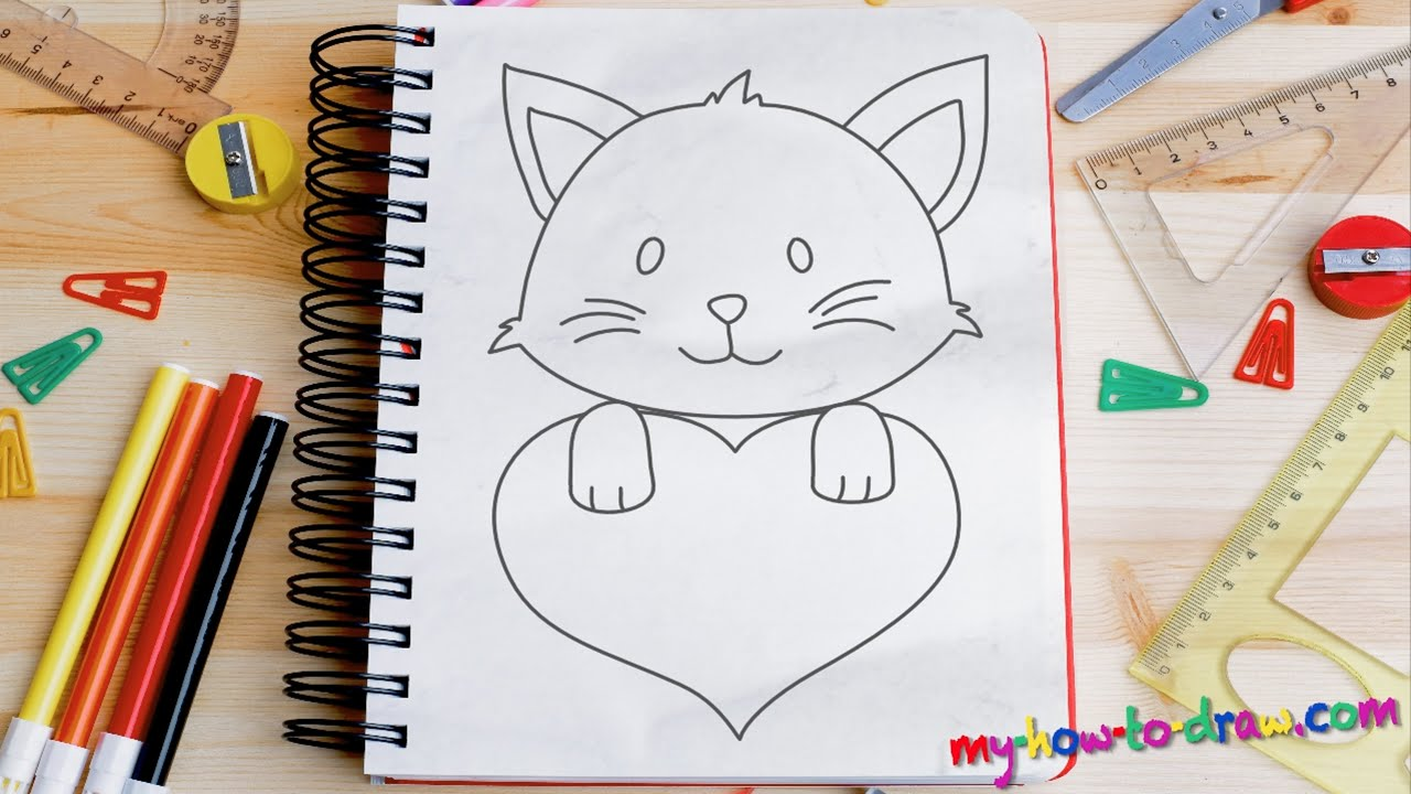 4th Grade Digestive System Diagram 2002 Sv650 Wiring How To Draw Cute Kittens With Love Hearts - Easy Step-by-step Drawing Lessons For Kids Youtube