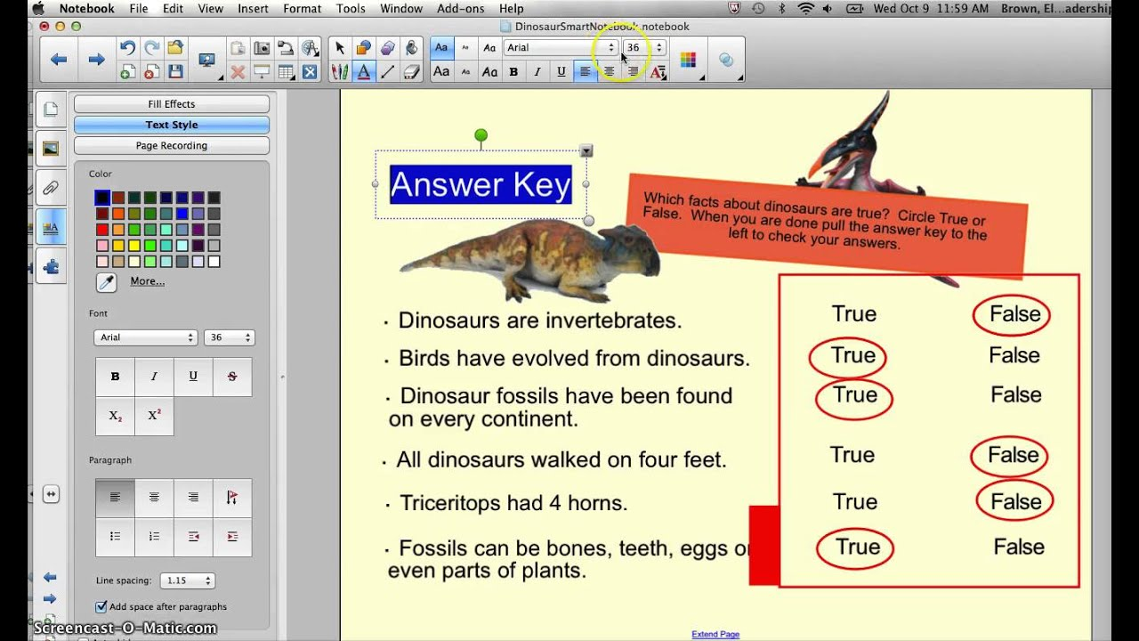 How to Create an Answer Key in Smart Notebook - YouTube
