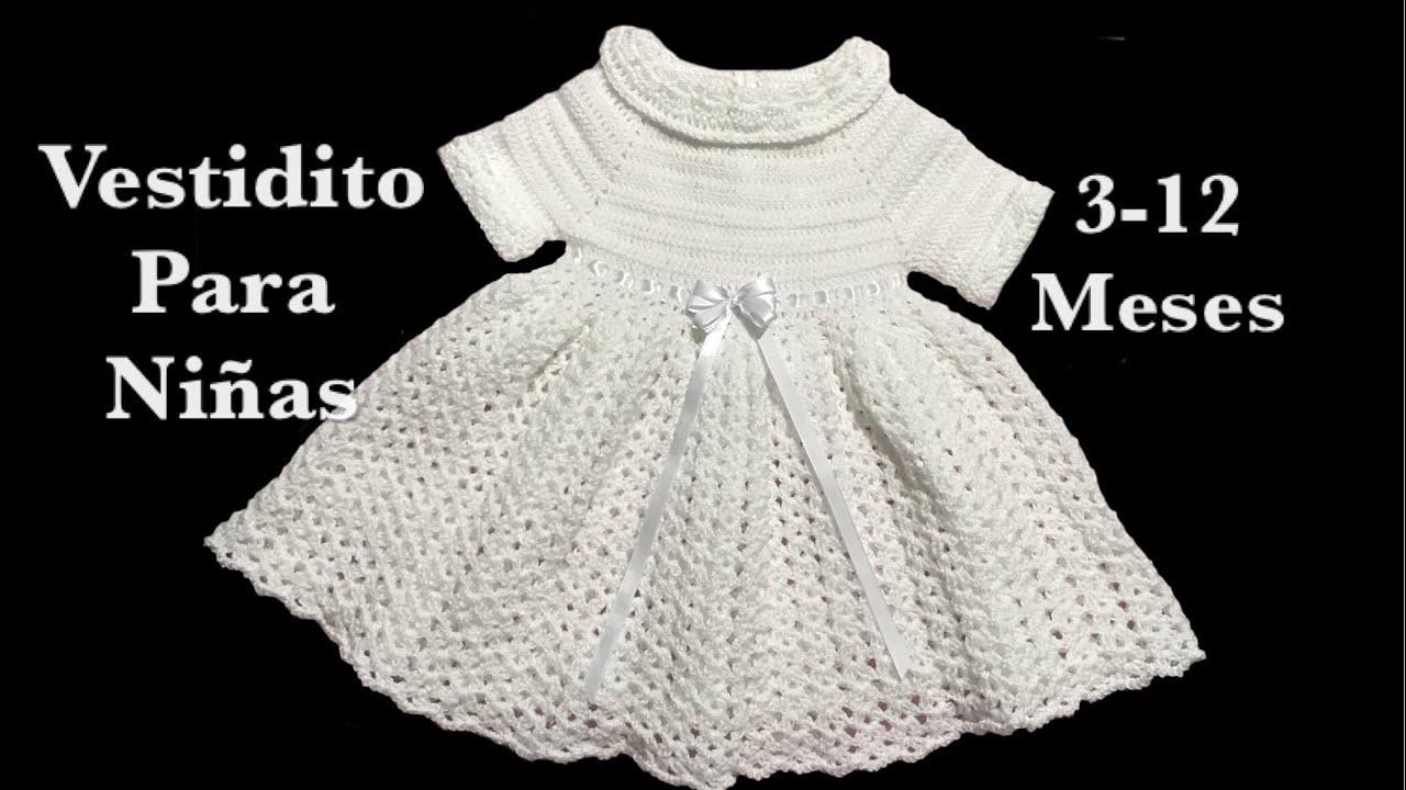 24aa2271e Vestido para niñas con manga corta o larga de 3-12 meses para bautizo en  gancho  121