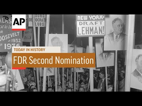 FDR Second Nomination - 1936 | Today In History | 26 June 17