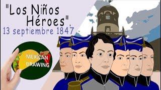 LOS NIÑOS HÉROES -Edición especial MES PATRIO |MEXICAN DRAWING 🌮