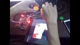 Detect color blob use openCV on HP Touchpad to control stm32
