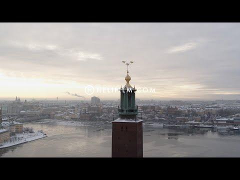 6329. Stadshuset (City Hall) Drone Stock Footage Video