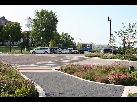 West Union Iowa >> Iowa Green Streets Pilot Project Main Street West Union