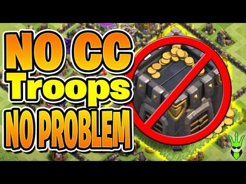 HOW TO FARM WITH NO CLAN CASTLE TROOPS!  Lets Play TH9 Ep13  Clash of Clans