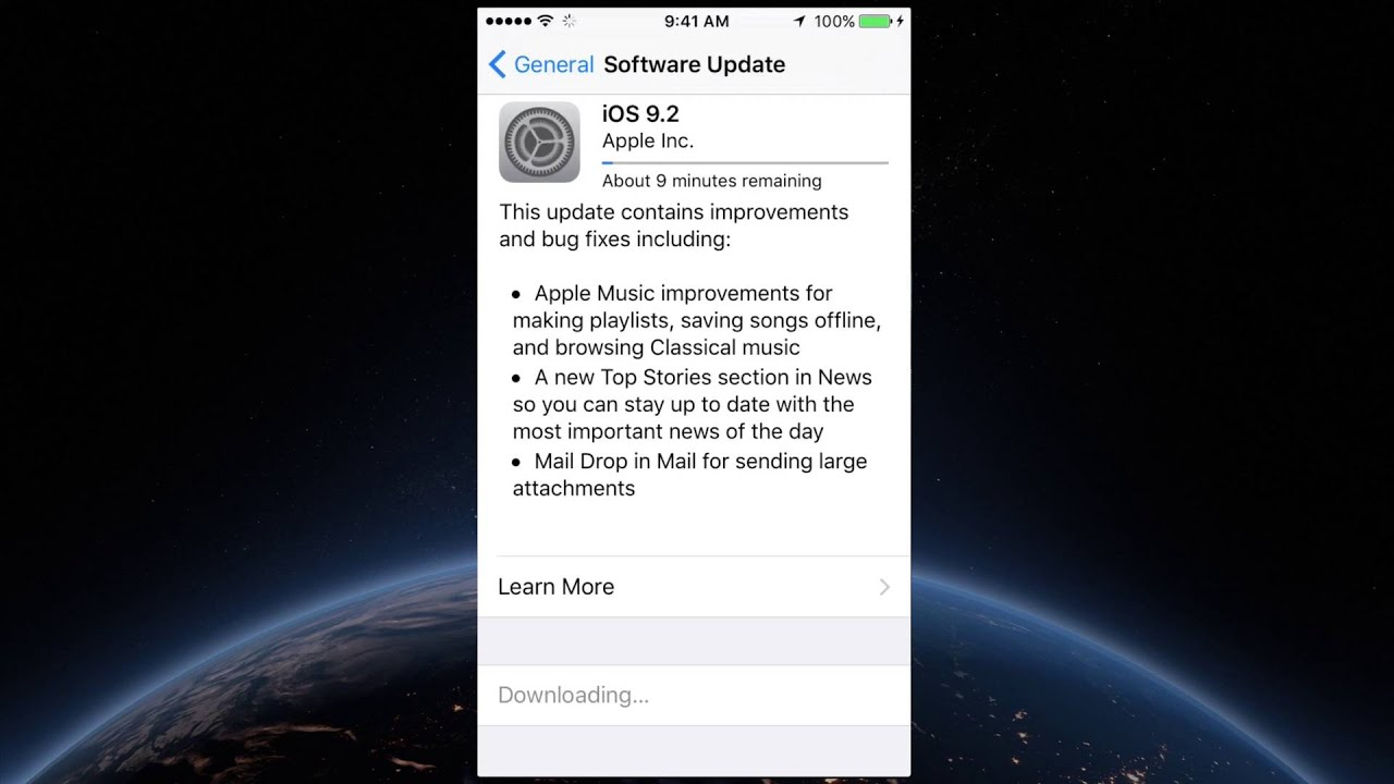 iphone 6s update how to update to ios 9 2 iphone 6 iphone 6s iphone 5s 2293