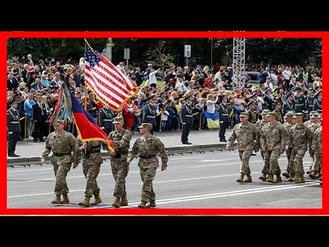 Ukrainian independence day parade with nato soldiers: russia says ukraine has lost its sovereignty