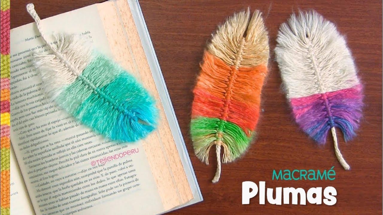 Plumas de colores en macramé / Tejiendo Perú - YouTube