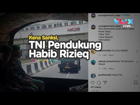 Anggota TNI Kena Sanksi Gara-gara Habib Rizieq