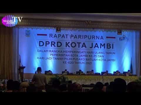 Kejari Jambi Mengikuti Rapat Paripurna DPRD Kota Jambi Dan HUT Pemerintah Kota Jambi Ke-75
