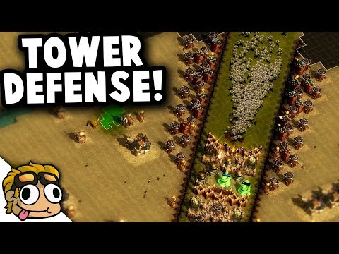 TOWER DEFENSE CUSTOM MAP! | They Are Billions Custom Map Gameplay
