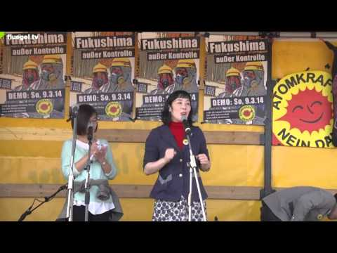 """""""Fukushima außer Kontrolle"""", AKW Neckarwestheim, 09.03.14: Detlev Schauwecker, Oshidori Mako"""