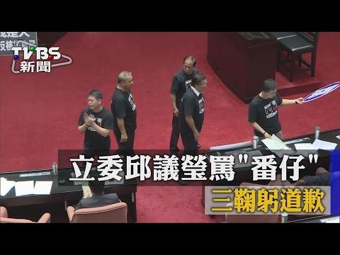 【TVBS】立委邱議瑩罵「番仔」 三鞠躬道歉