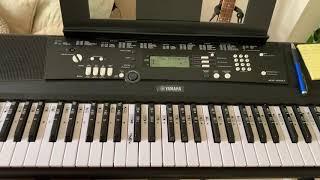 Yamaha EZ-220 play song at various tempos