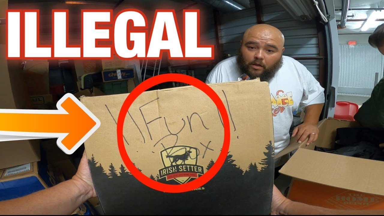 FOUND ILLEGAL ITEMS IN FUN BOX in $1,600 storage wars unit we bought at abandoned storage auction