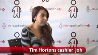 Tim Hortons Cashier Job
