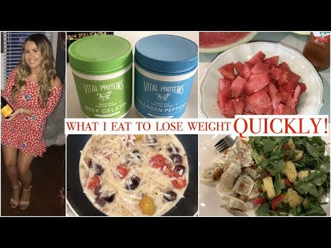 WHAT I EAT IN A DAY TO LOSE WEIGHT QUICKLY & GET BACK ON TRACK!