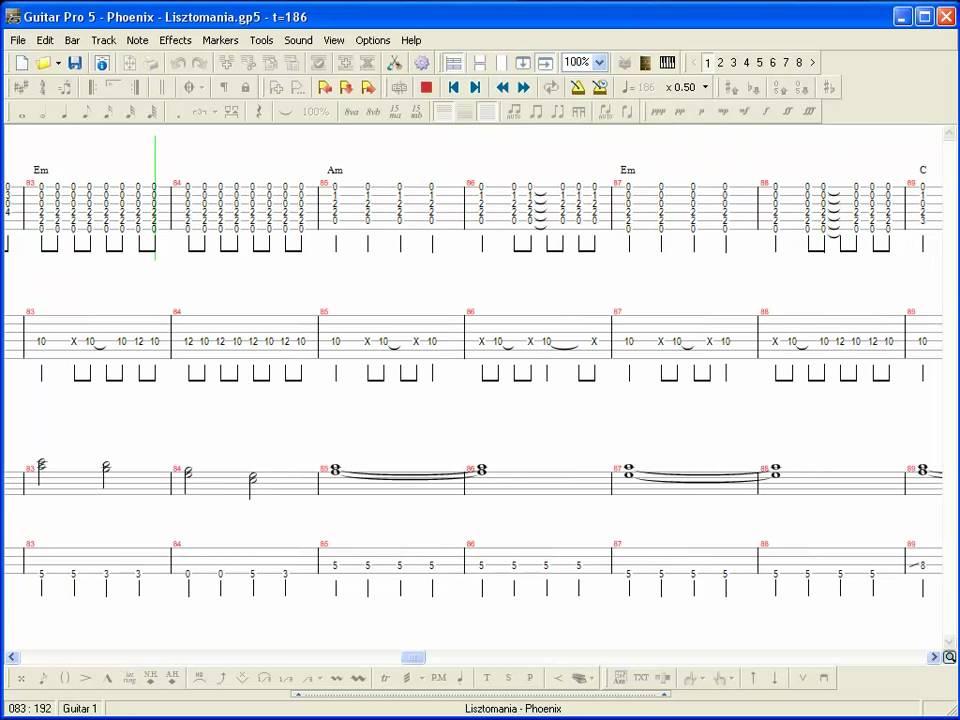 Phoenix - Lisztomania GUITAR PRO Tablature - YouTube