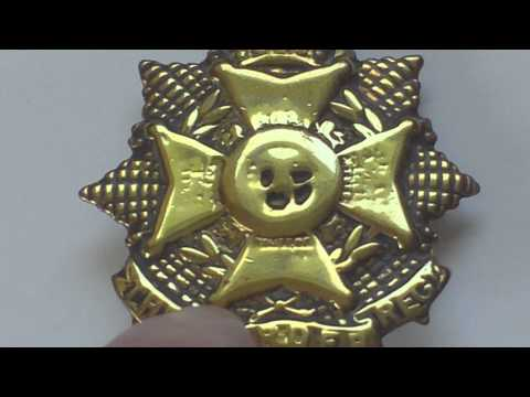 BORDER REGIMENT 1916 ECONOMY BRASS CAP BADGE