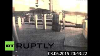 CCTV footage: Heavy shelling hits Donetsk train station