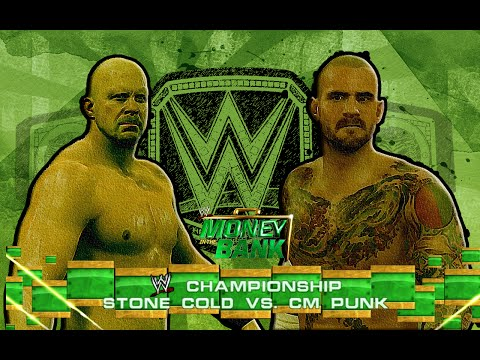 WWE 2K15/14: Stone Cold vs CM Punk - Money in the Bank PPV - (Custom Promo & Championship Match)