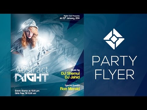 Flyer Design in Photoshop - Abstract Night - Print Ready Flyer Template