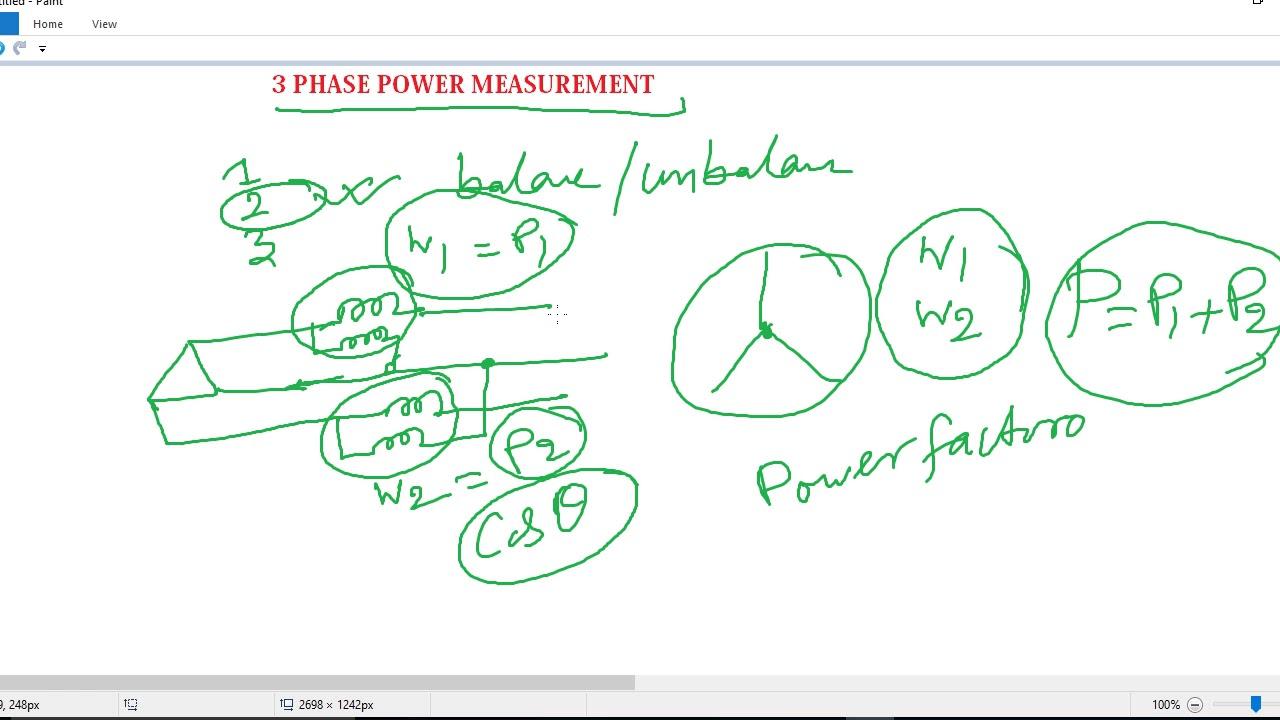Ssc Je Preparation 2018 3 Phase Power Measurements By Two Watt