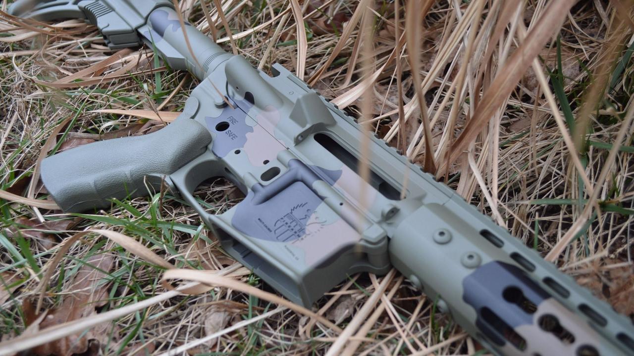 Gap Camo High Heat Vinyl Stencils Used To Cerakote A Rifle