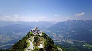 Das Kehlsteinhaus (Eagle's Nest) bei Berchtesgaden auf dem Kehlstein 2015 Luftaufnahme