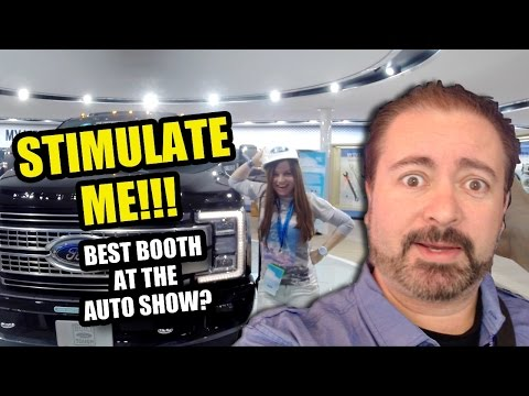 STIMULATE ME!!! - BEST BOOTH at the Auto Show? - NAIAS Booth Tours