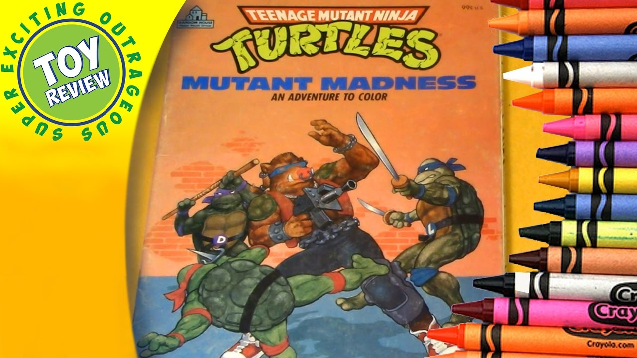 teenage mutant ninja turtles mutant madness vintage coloring book review seo toy review - Vintage Coloring Books