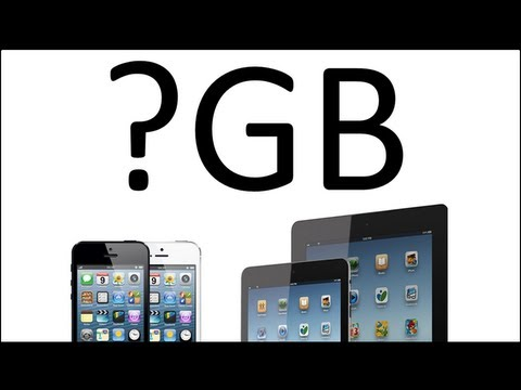 What iPhone  iPad Memory Should You Get ?  16, 32 or 64 GB ?