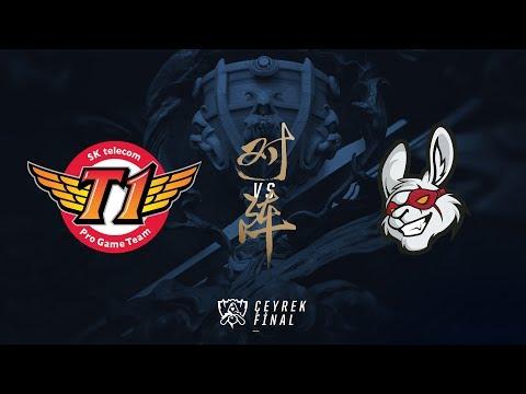 SK telecom T1 ( SKT ) vs Misfits Gaming ( MSF ) 5. Maç Özeti | Worlds 2017 Çeyrek Final
