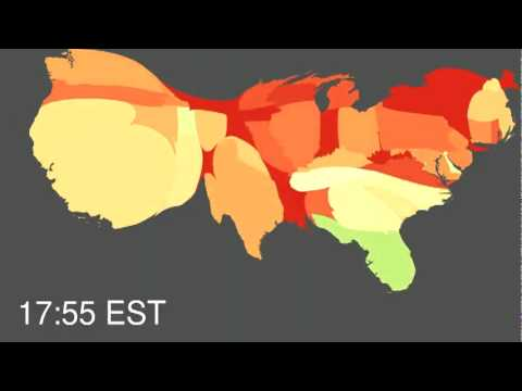 Northeastern & Harvard University Research -  Pulse of the Nation, Mood Visualisation  2010