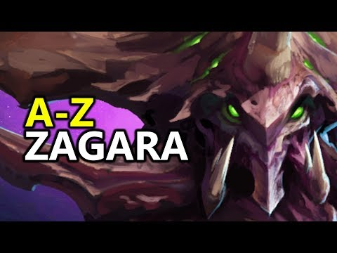 ♥ A - Z Zagara - Heroes Of The Storm (HotS Gameplay)