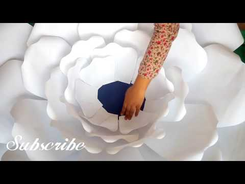 Large Paper Giant Flower | DIY White Rose Tutorial (Large Size Paper Rose)