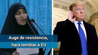 """""""EU tendrá días oscuros"""", advierte hija del general iraní"""