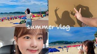 [VLOG] 즐거운 휴무날  (만리포 해수욕장)